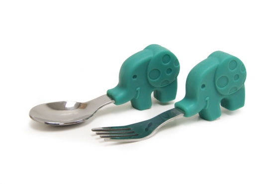 Marcus & Marcus Palm Grasp Spoon and Fork Set Ollie the Elephant