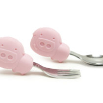 Marcus & Marcus Palm Grasp Spoon and Fork Set Pokey the Piglet
