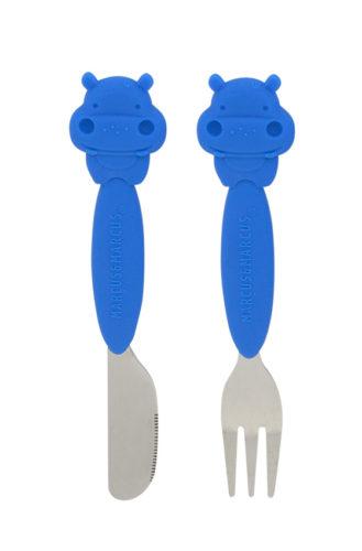 Marcus & Marcus Fork & Knife set Lucas the Hippo