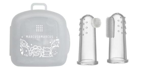 Marcus & Marcus Silikona zobu birstes un smaganu masāžas komplekts