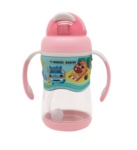 Marcus & Marcus 2-Stage tritan straw bottle – Pink