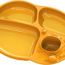 Marcus & Marcus Yummy Dips Suction Divided Plate – Lola