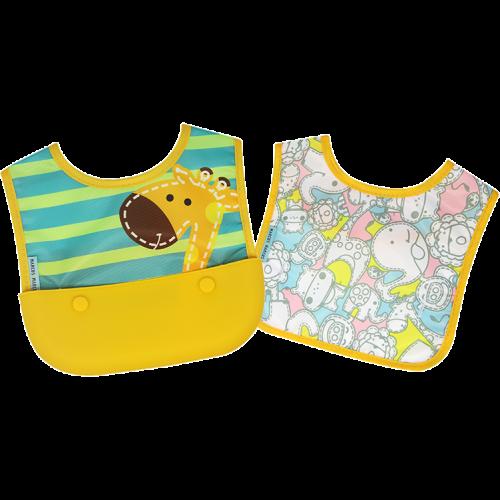 Marcus & Marcus Travel bib (Set of 2 Bibs) – Yellow  (Lola)