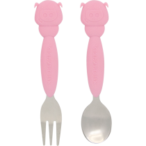 Marcus & Marcus Spoon and Fork Set Pokey the Piglet